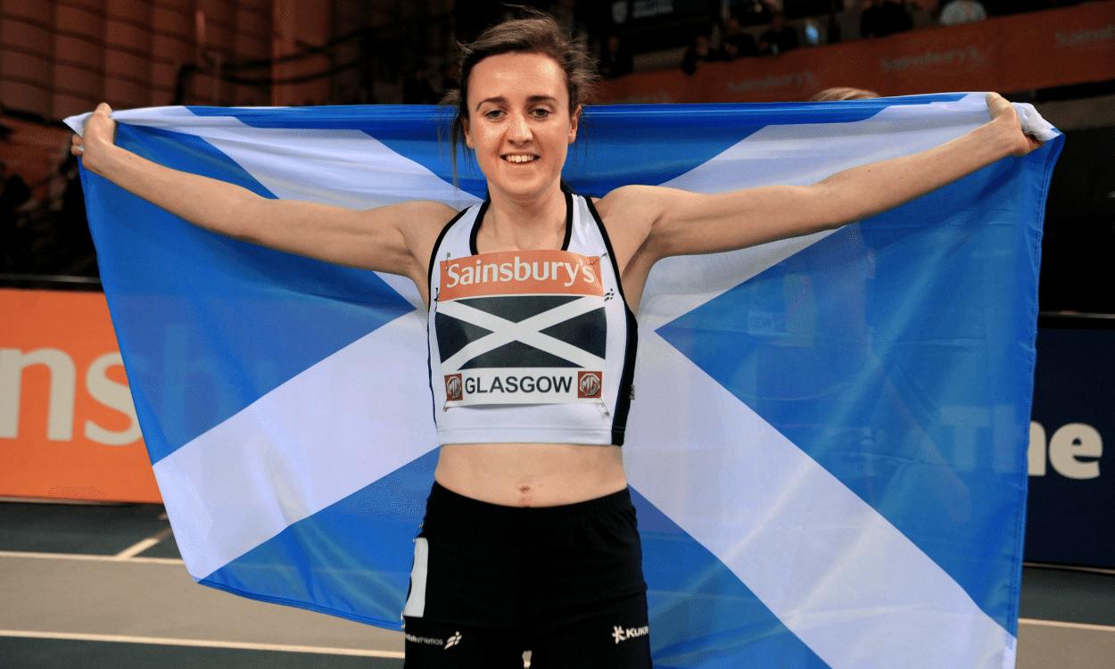 Laura Muir Glasgow Match 2014 (Credit: Mark Shearman)