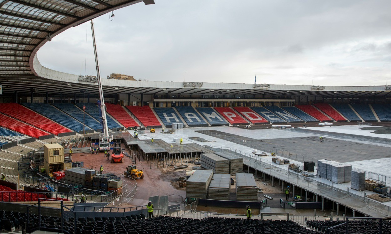 Hampden Park undergoes transformation for Glasgow 2014