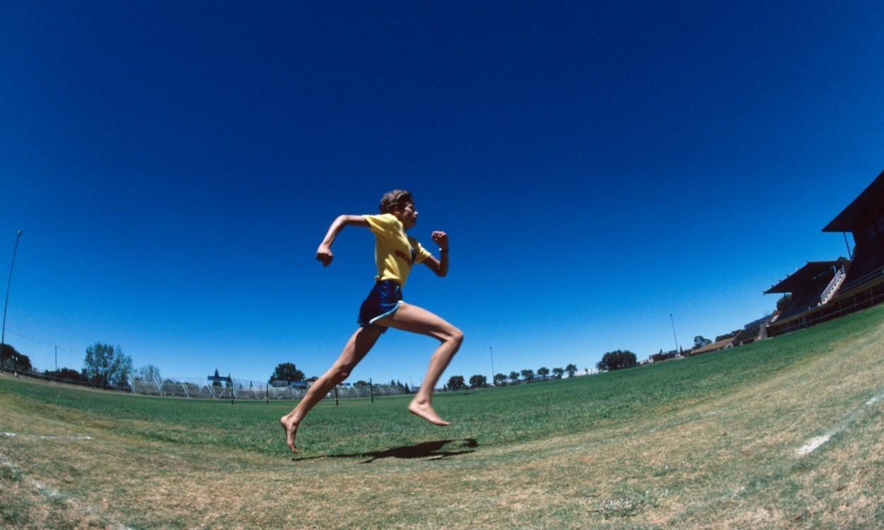 Zola Budd training in South Africa 1983 (Credit: Mark Shearman)