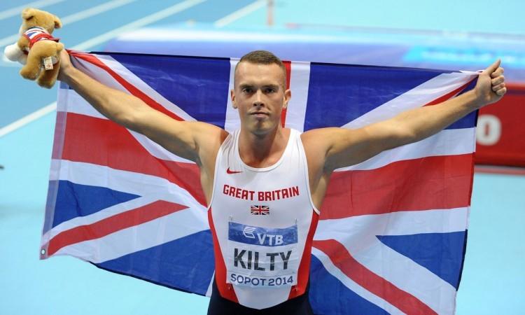 Richard Kilty wins world indoor 60m gold in Sopot 2014 (Credit: Mark Shearman)