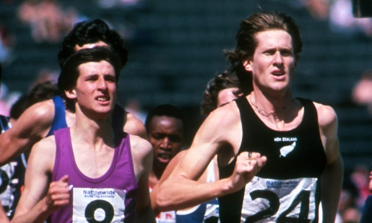 Seb Coe and John Walker at C. Palace 1977 (Credit: Mark Shearman)