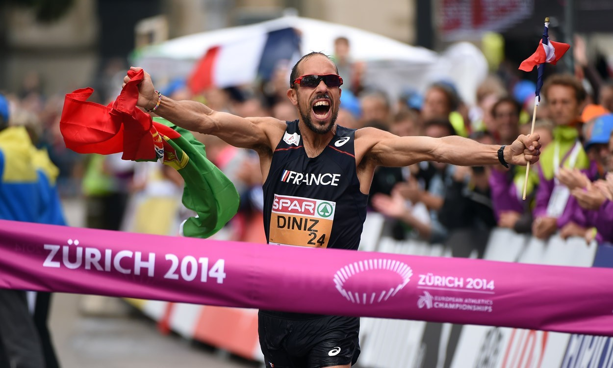 Yohann Diniz smashes world 50km walk record