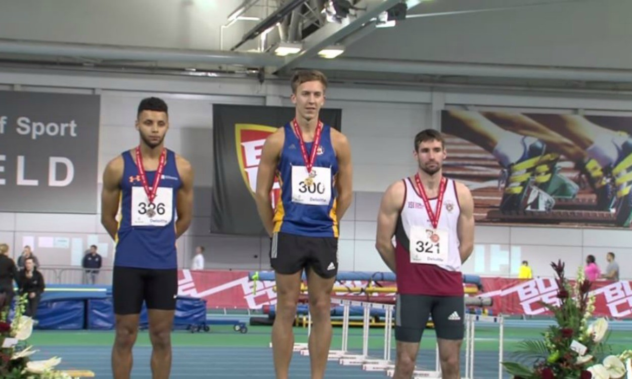 Hurdler David King looks ahead after first BUCS indoor title