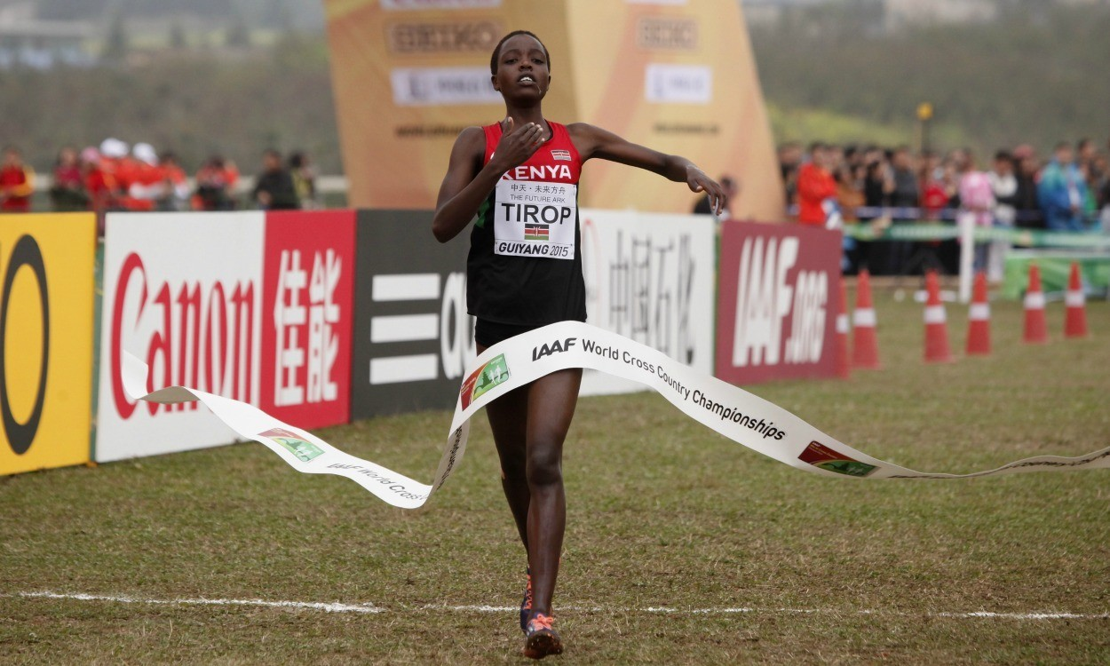 Agnes Tirop wins senior women's World Cross title in China
