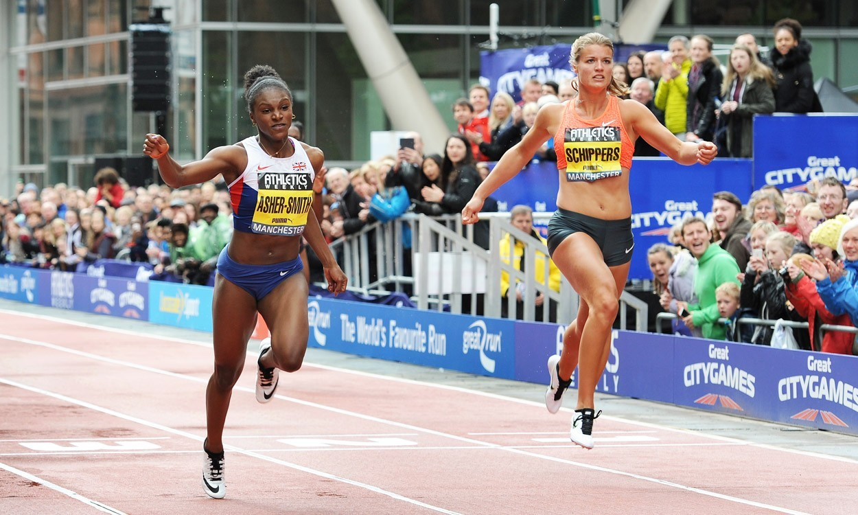 Dina Asher-Smith in Anniversary Games sprint clash