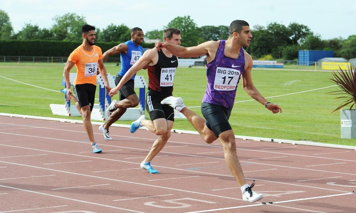Adam Gemili shines in sprints at BIG