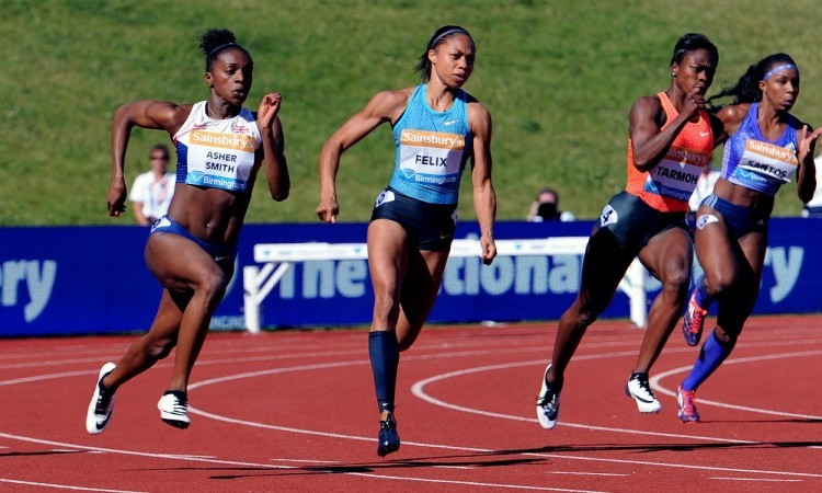 Dina Asher-Smith in Birmingham