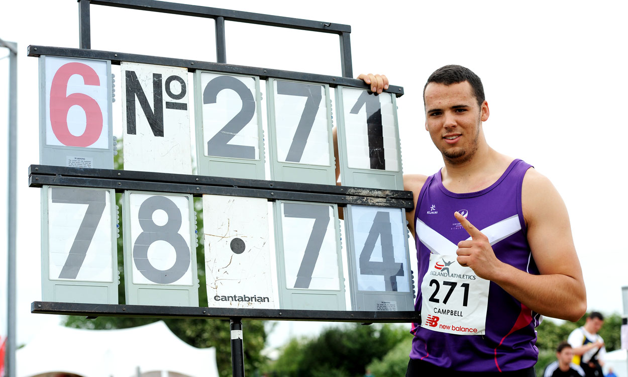 Taylor Campbell continues record-breaking ways in Bedford