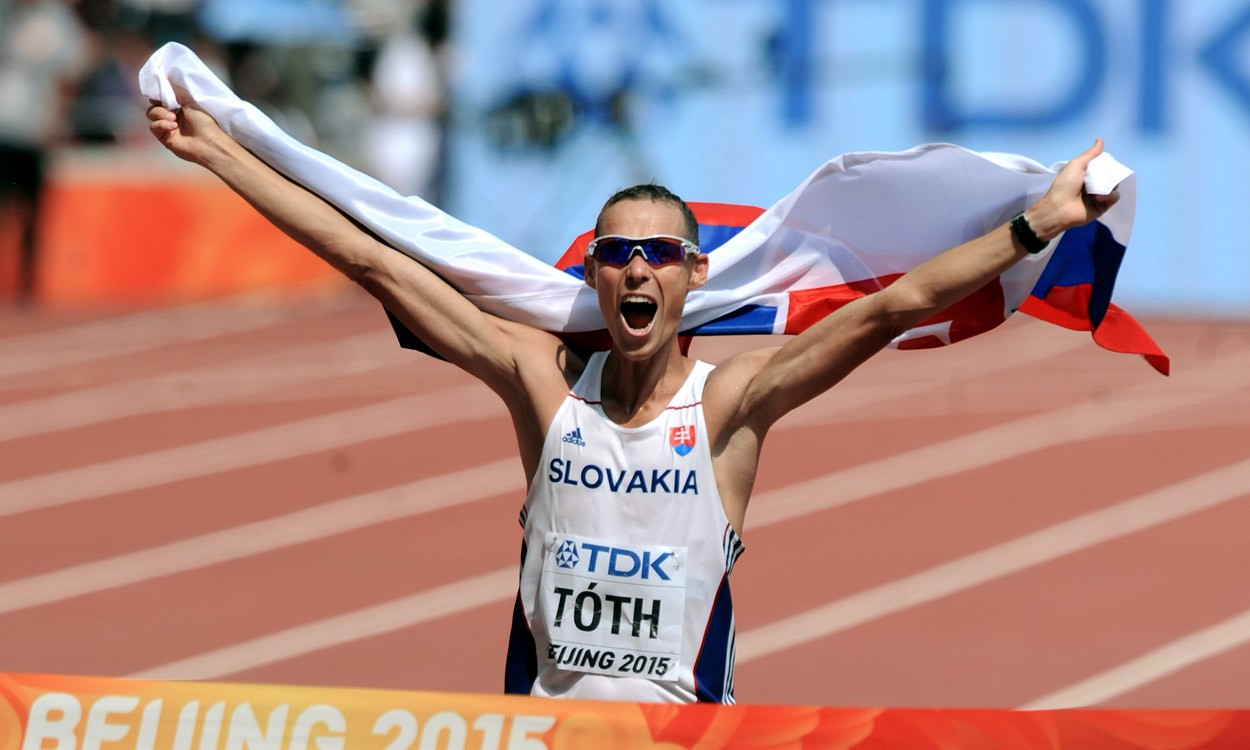 Matej Toth wins Slovakia's first ever world gold with 50km walk victory