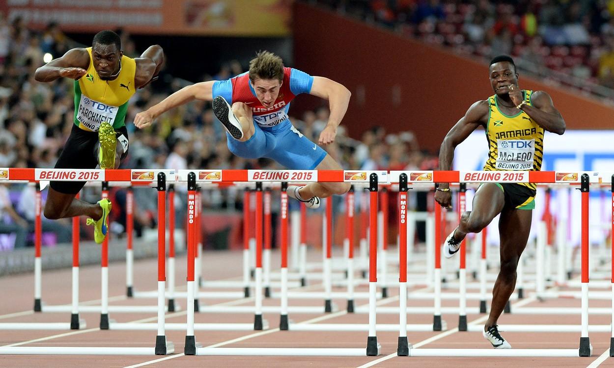 Sergey Shubenkov speeds to sprint hurdles glory
