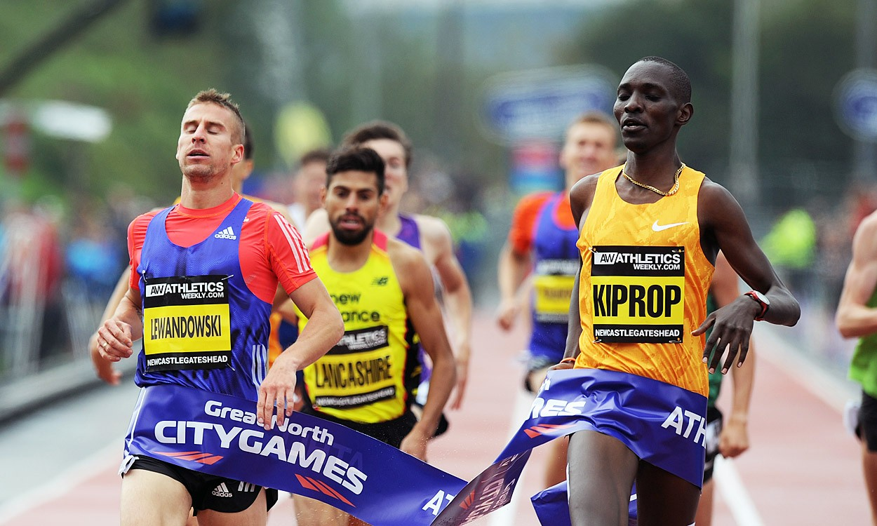 Asbel Kiprop among winners at the Great North CityGames