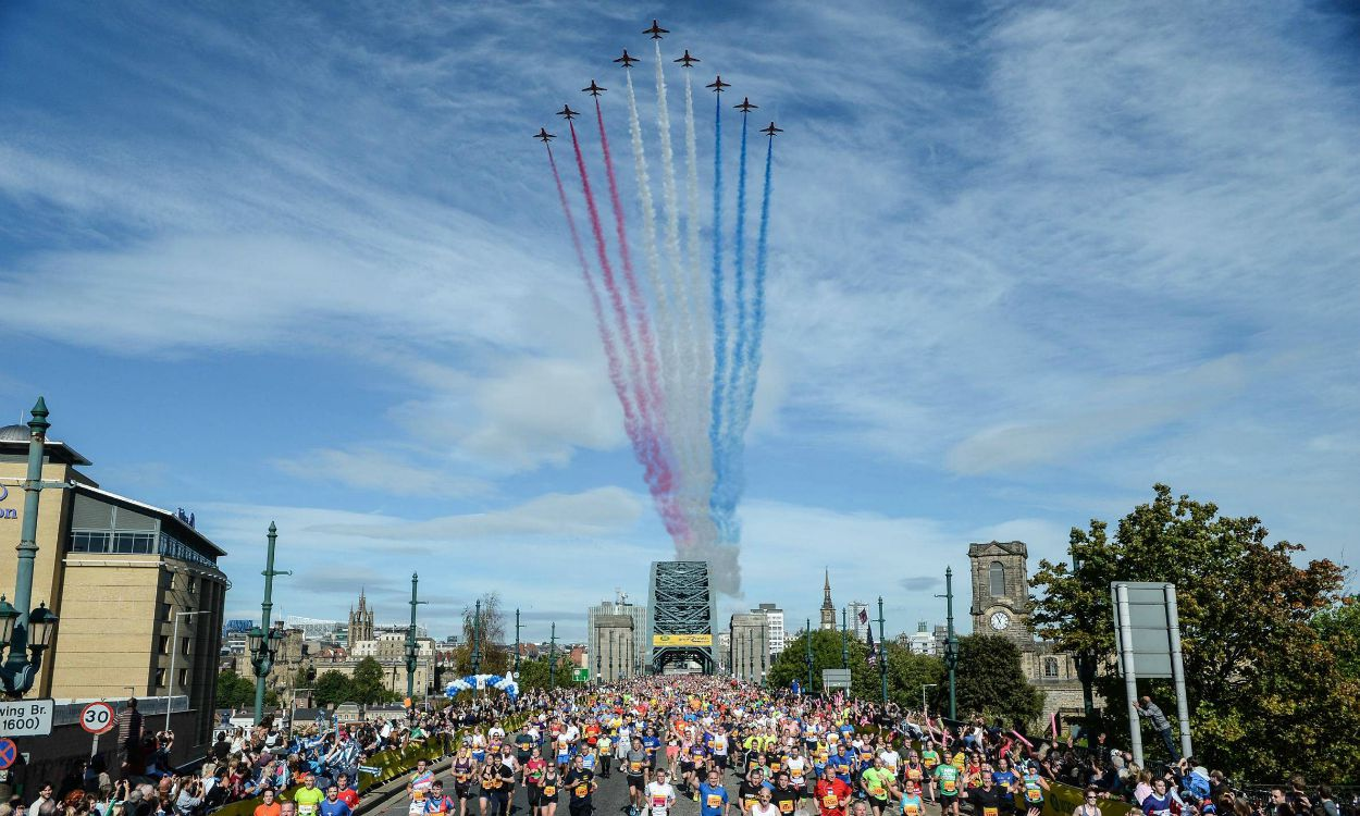 Great North Run 2015 course timelapse