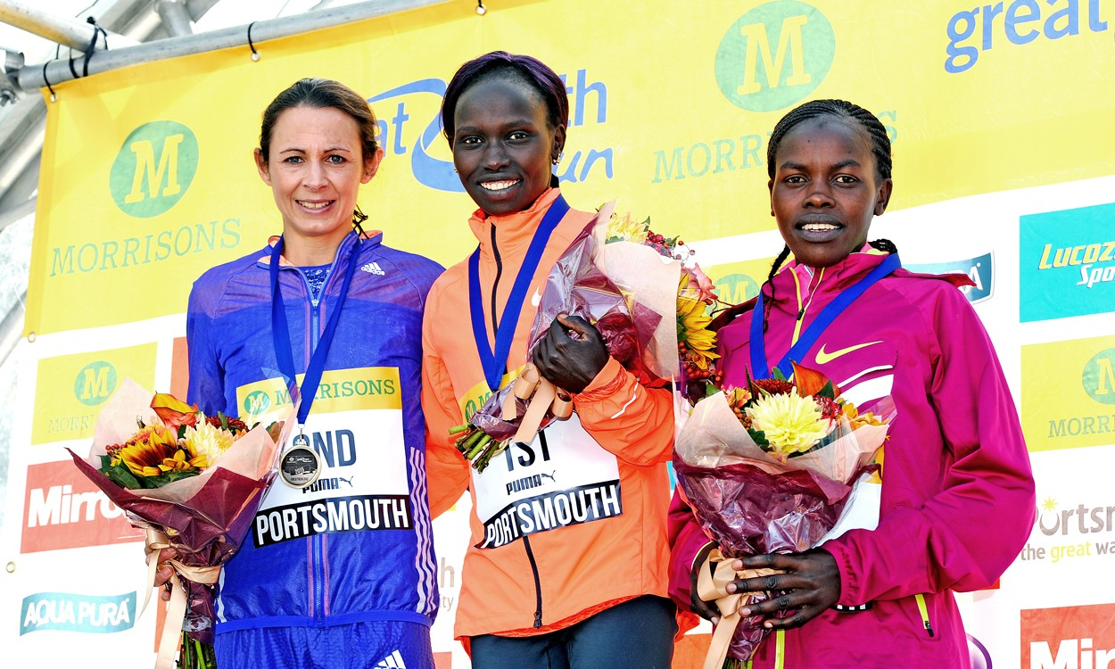 Vivian Cheruiyot and Moses Kipsiro prevail in Great South Run