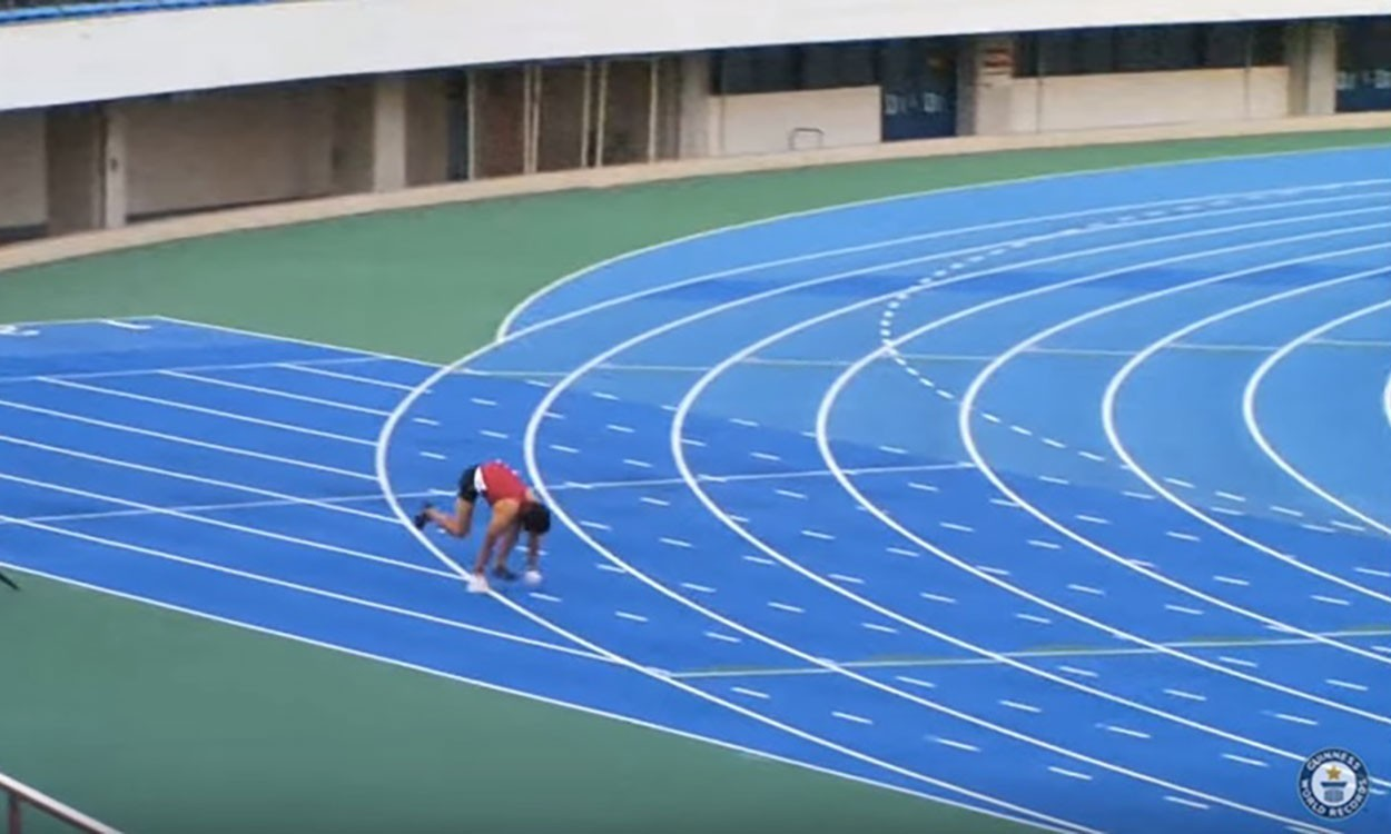 Kenichi Ito clocks fastest 100m on all fours