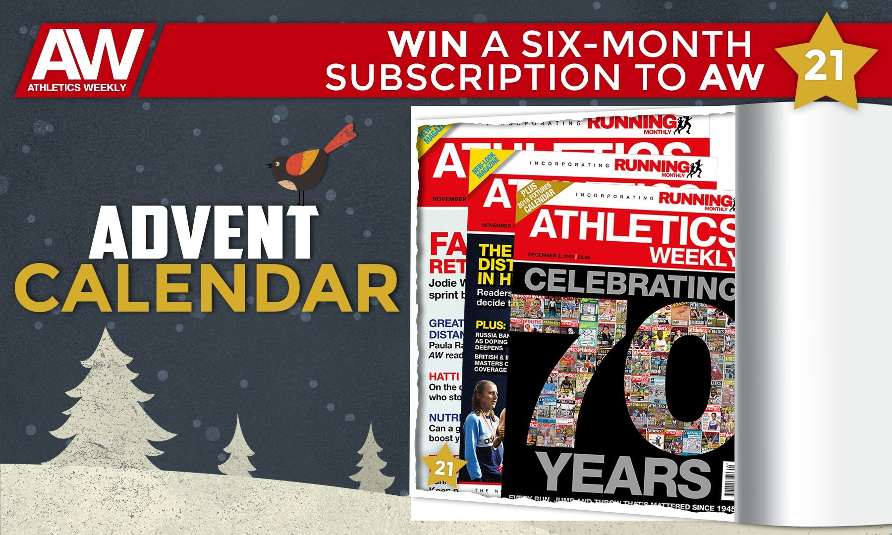 Win a six-month subscription to Athletics Weekly