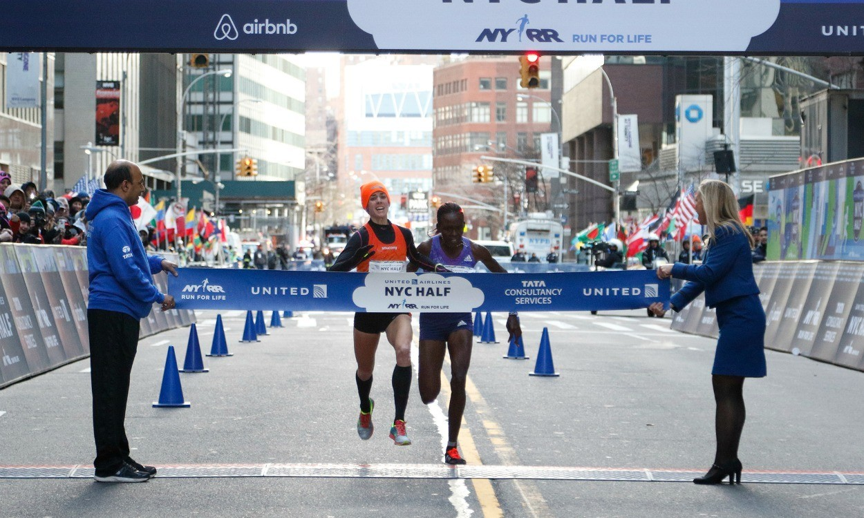 Molly Huddle and Stephen Sambu win NYC Half – global update