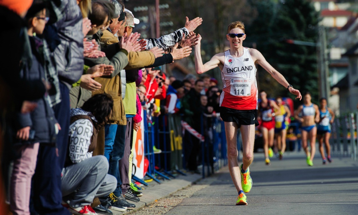 Tom Bosworth breaks British 20km race walk record in Slovakia