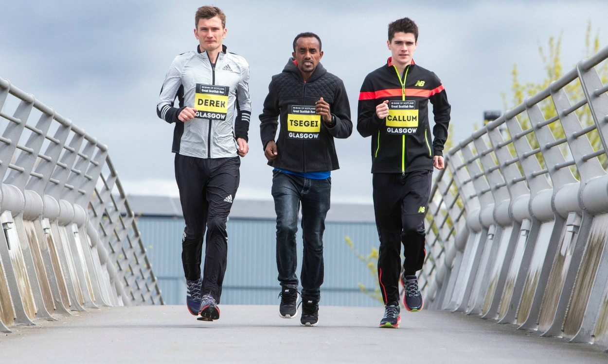 Hawkins and Tewelde to take on Kipsiro at Great Scottish Run