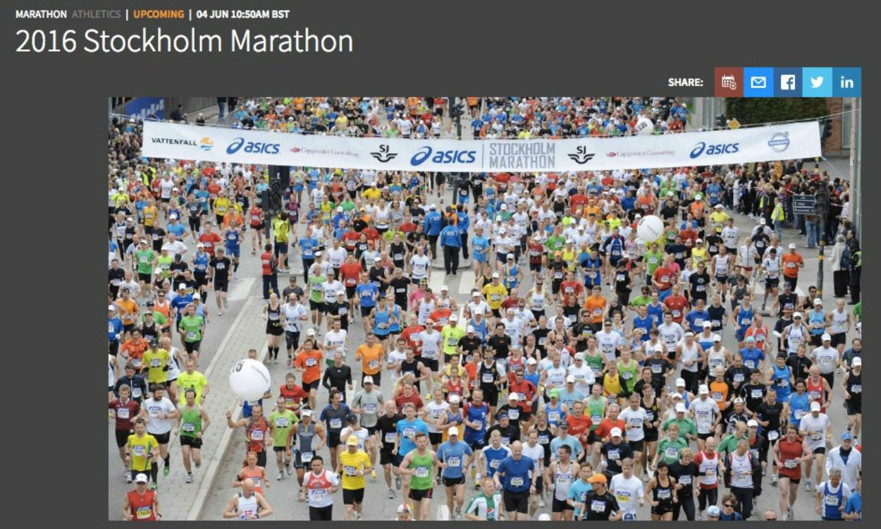ASICS Stockholm Marathon live stream