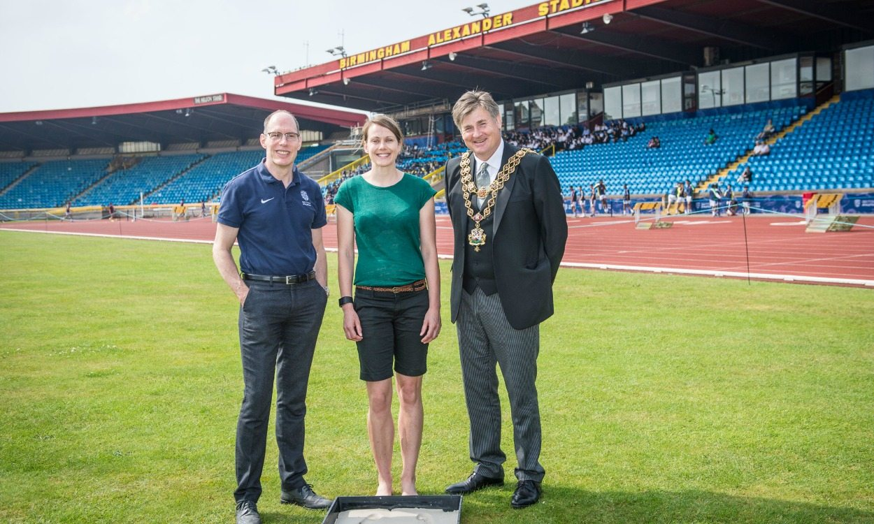 Kelly Sotherton helps launch celebration of Birmingham's athletics history