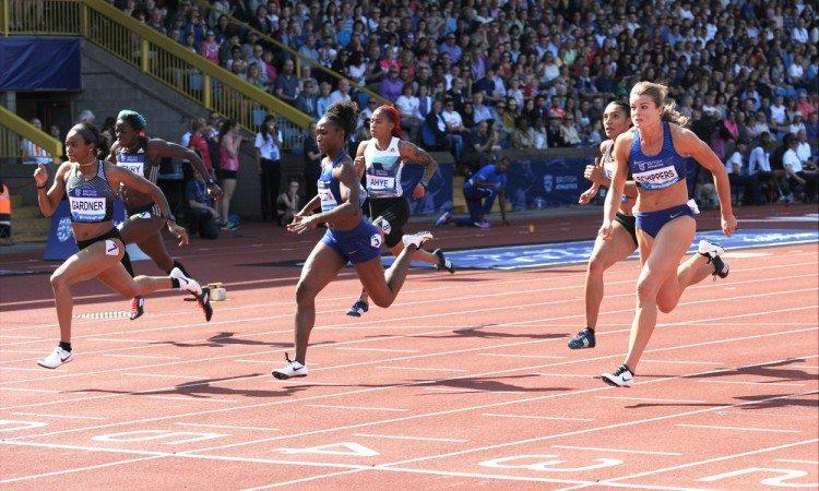 women 100m birmingham 2016