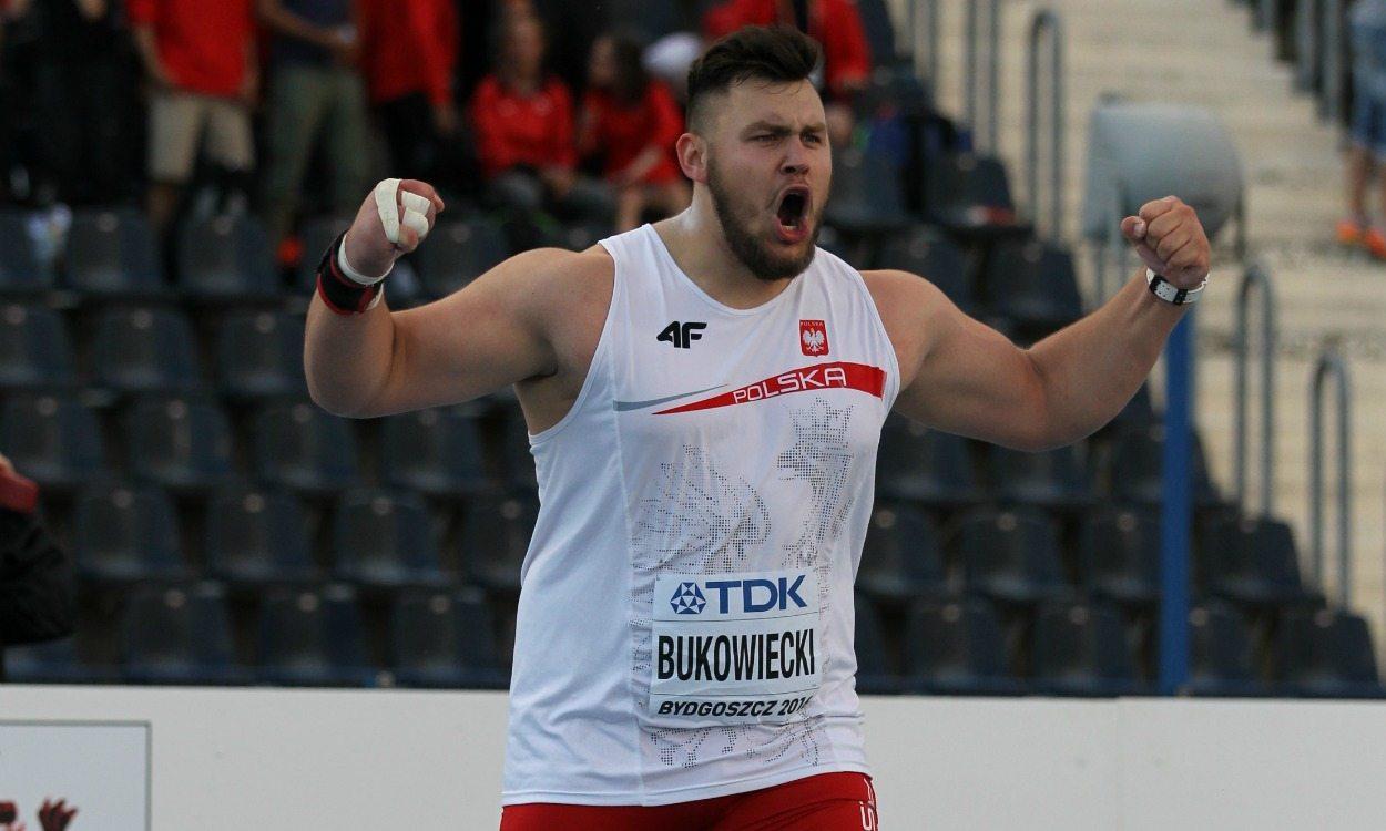 Konrad Bukowiecki breaks world U20 shot put record in Bydgoszcz