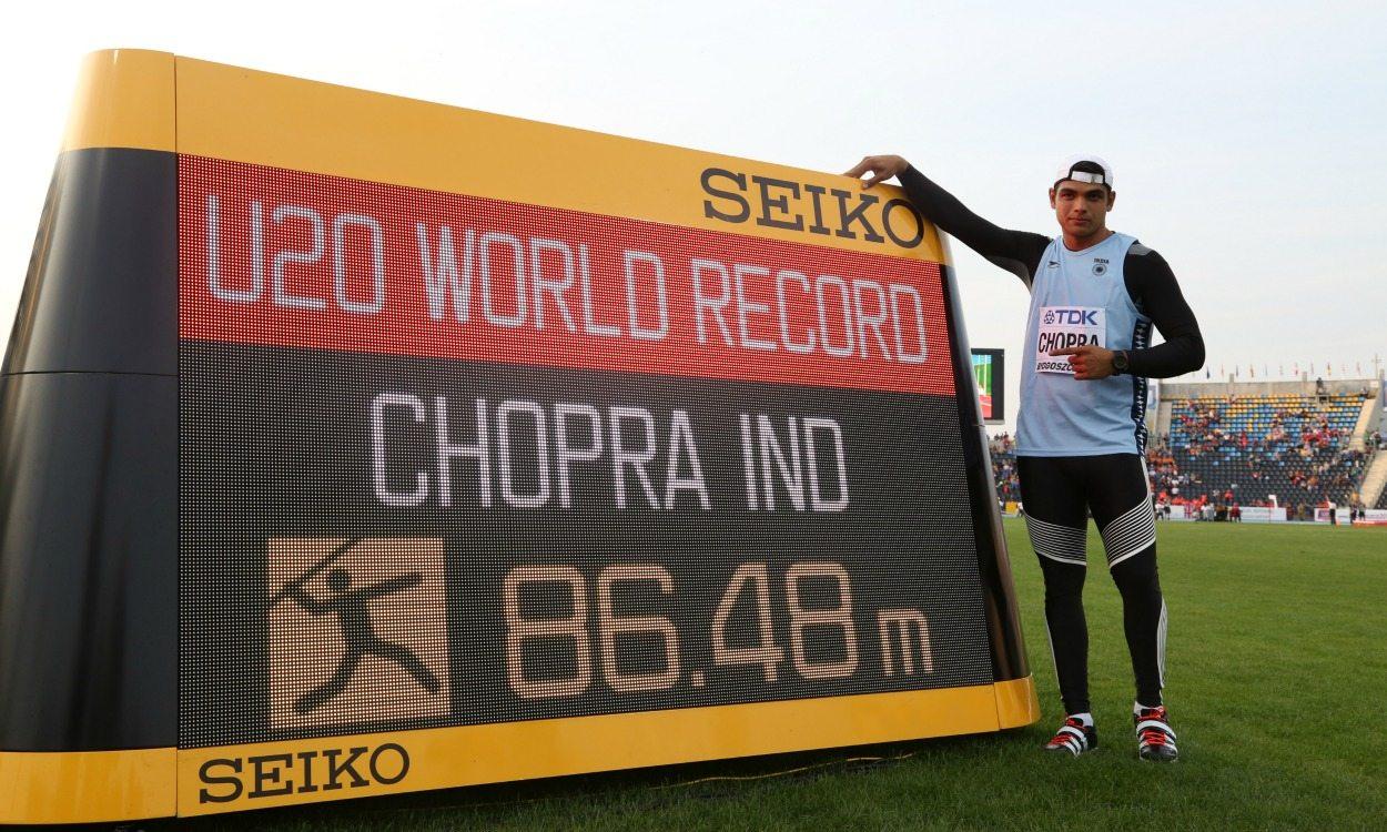 India's Neeraj Chopra breaks world under-20 javelin record