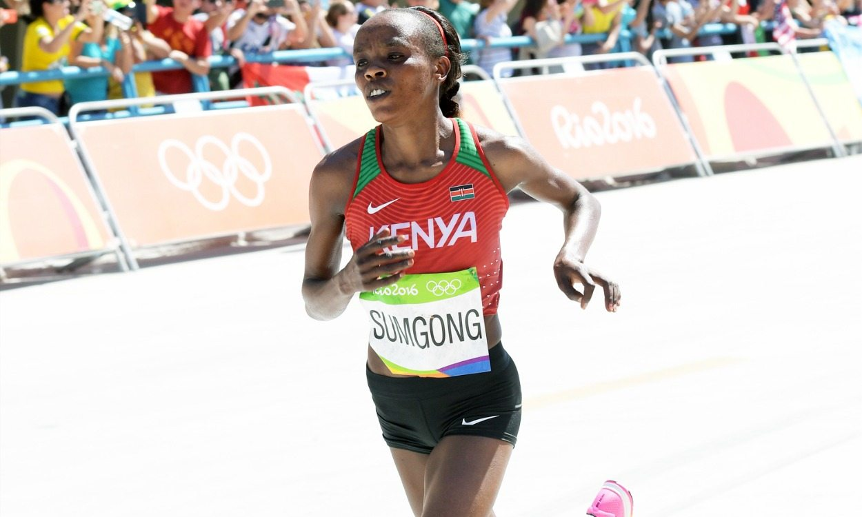 Olympic marathon champion Jemima Sumgong banned for eight years