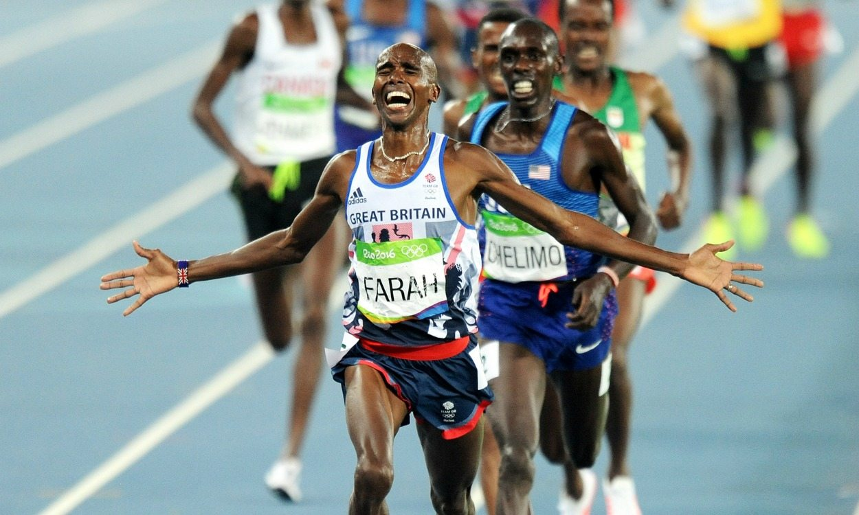 Mo Farah completes Olympic 'double double' in Rio
