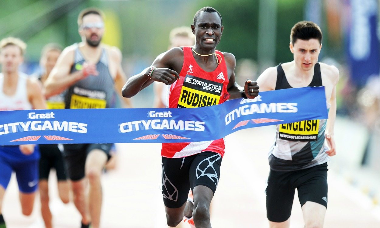 David Rudisha runs world 500m best at Great North CityGames