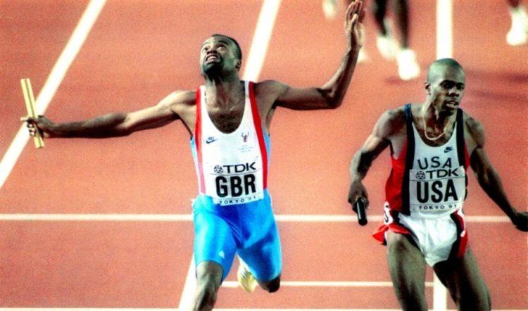 Kriss Akabusi world 4x400m 1991