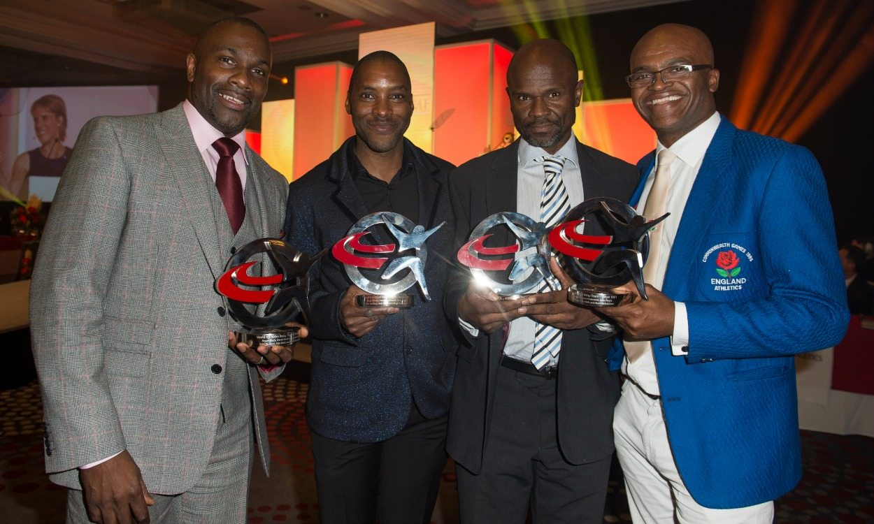 Kriss Akabusi and relay champions of '91 join English hall of fame