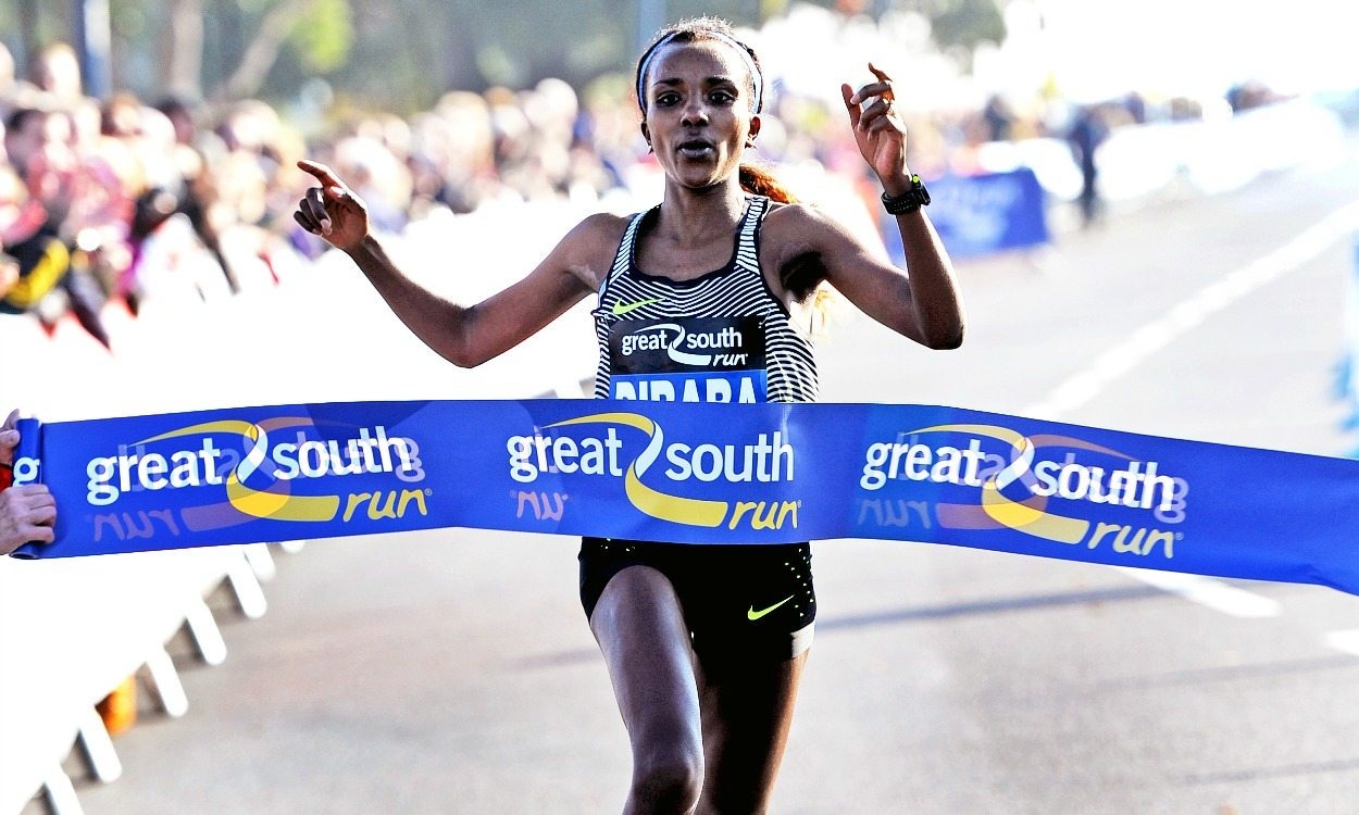 Tirunesh Dibaba and Chris Thompson win Great South Run