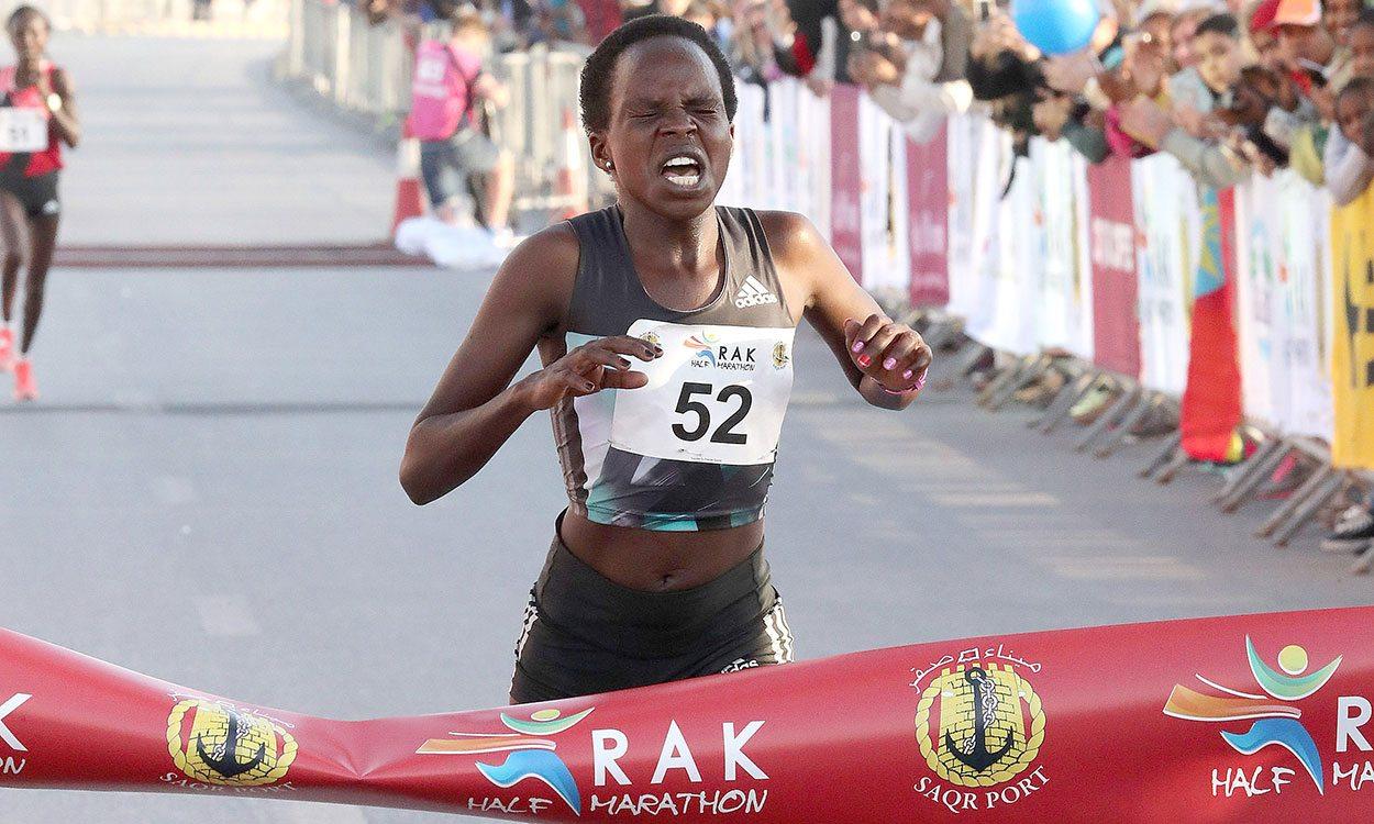 Peres Jepchirchir breaks world half-marathon record