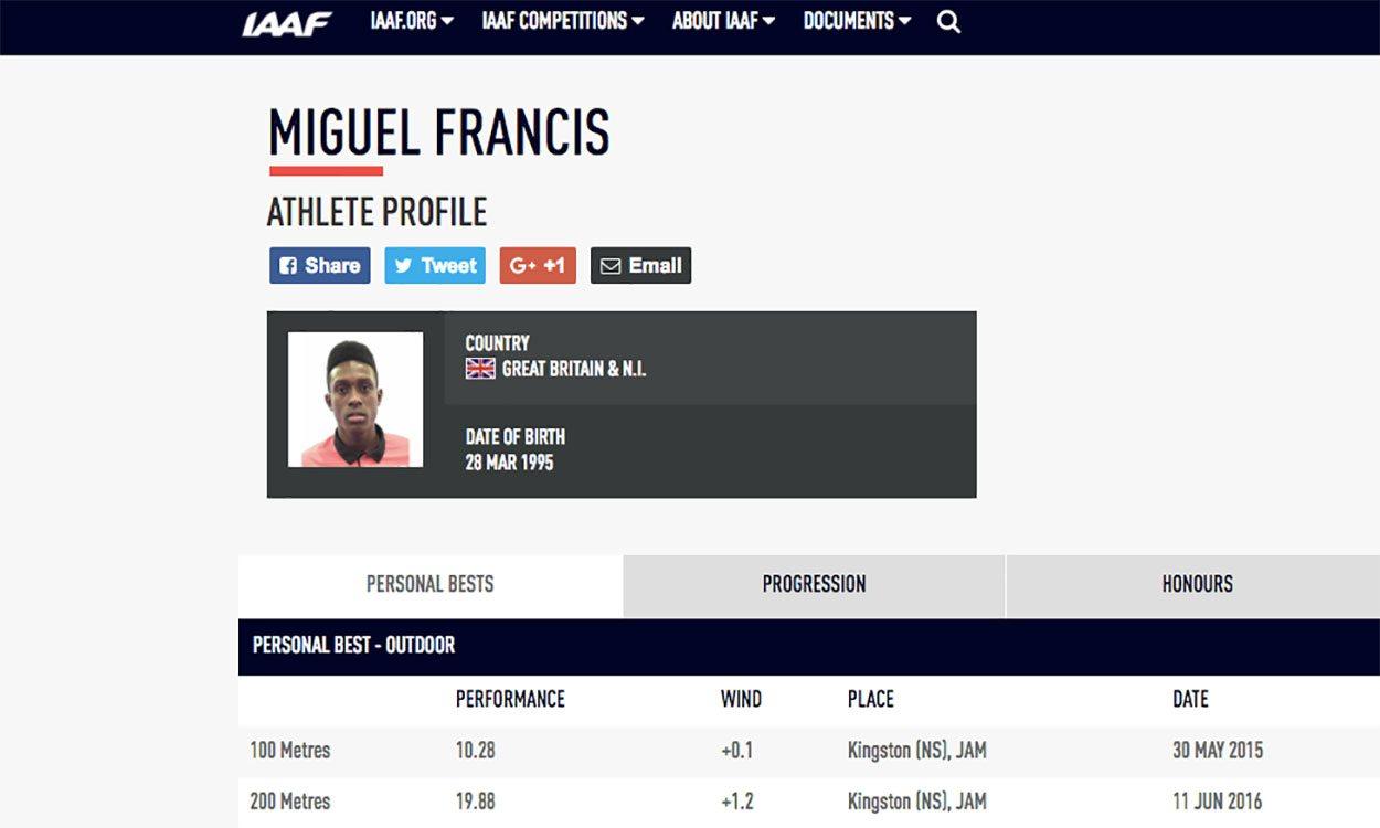 Miguel Francis has GB allegiance confirmed