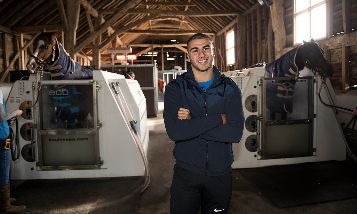 Adam Gemili learns there's no horsing around when it comes to training