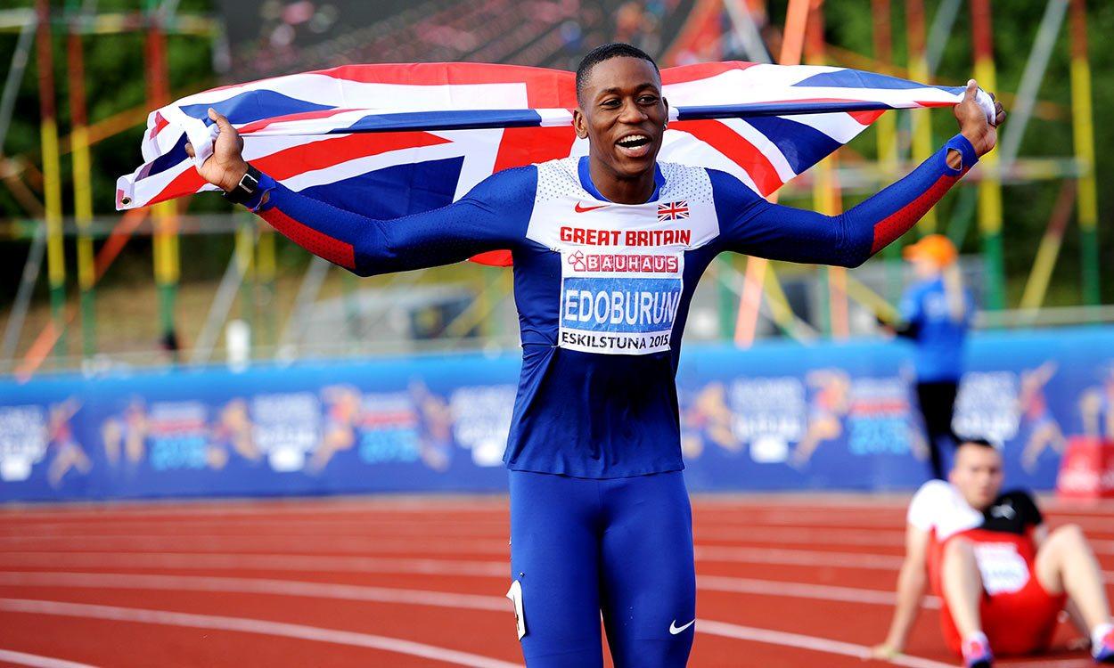 Ojie Edoburun sprints to European U23 100m title