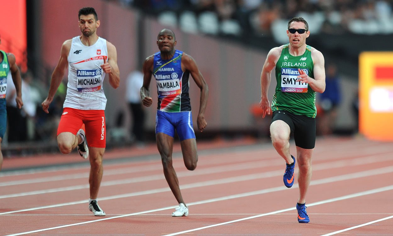Jason Smyth completes world sprint double in London