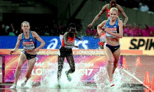 World champions: Emma Coburn