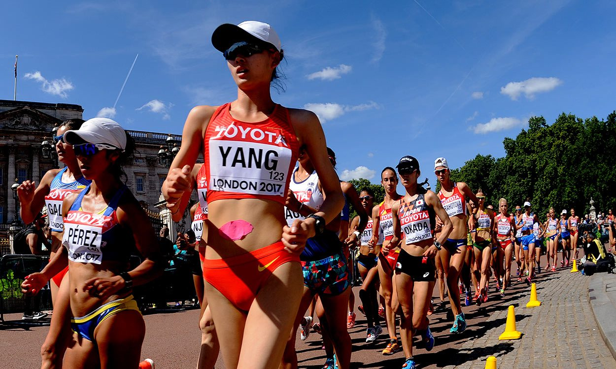Jiayu Yang holds off speedy Gonzalez to win world 20km walk gold