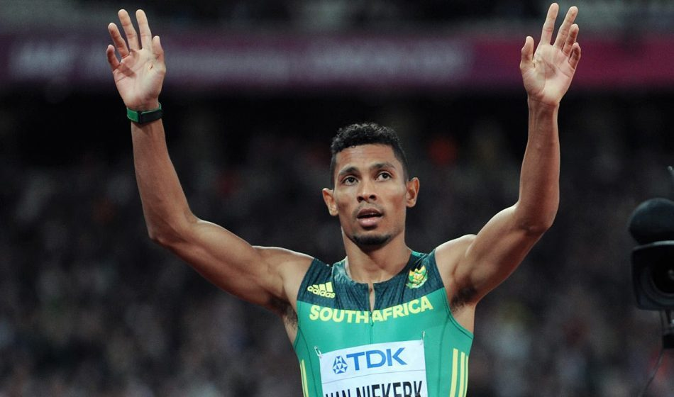Wayde van Niekerk wins world 400m but spares thought for Isaac Makwala
