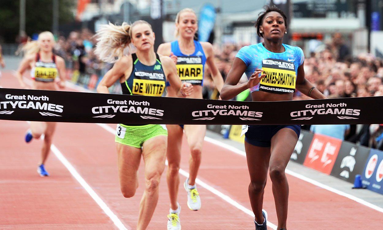 Perri Shakes-Drayton wins 500m in photo finish at Great North CityGames