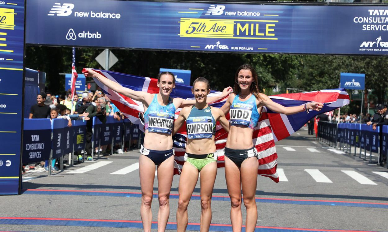Jenny Simpson wins and Laura Weightman runs British road mile best in New York
