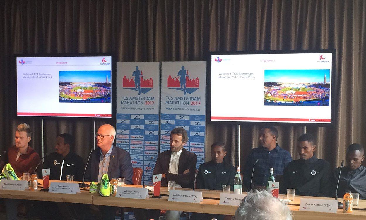 Athletes ready for TCS Amsterdam Marathon