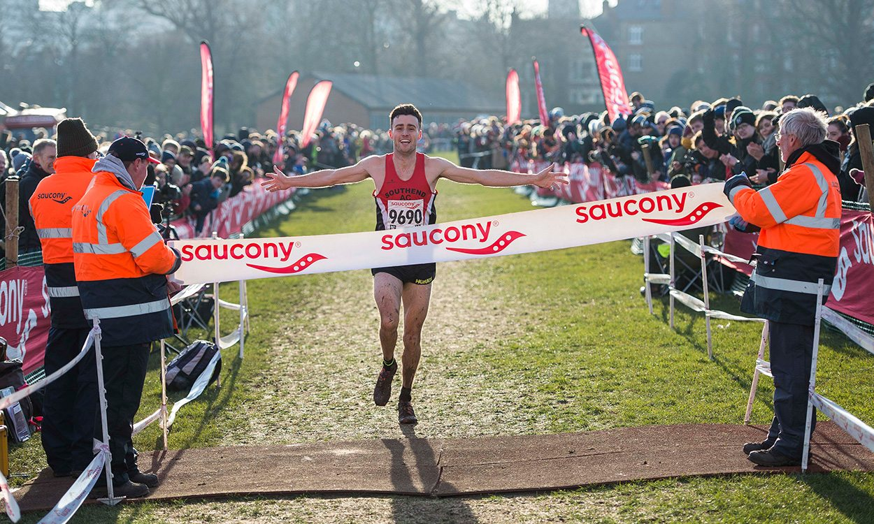 Adam Hickey and Phoebe Law win English National cross country titles