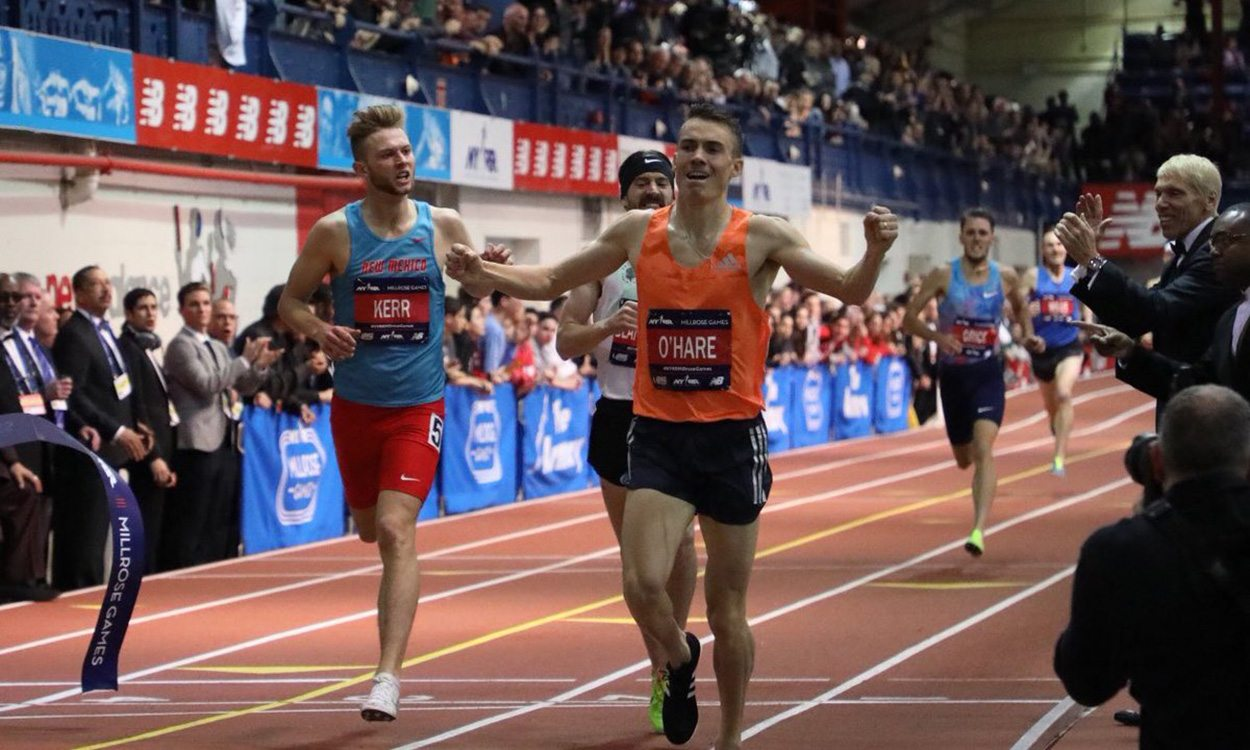 Chris O'Hare wins Millrose Games Wanamaker Mile