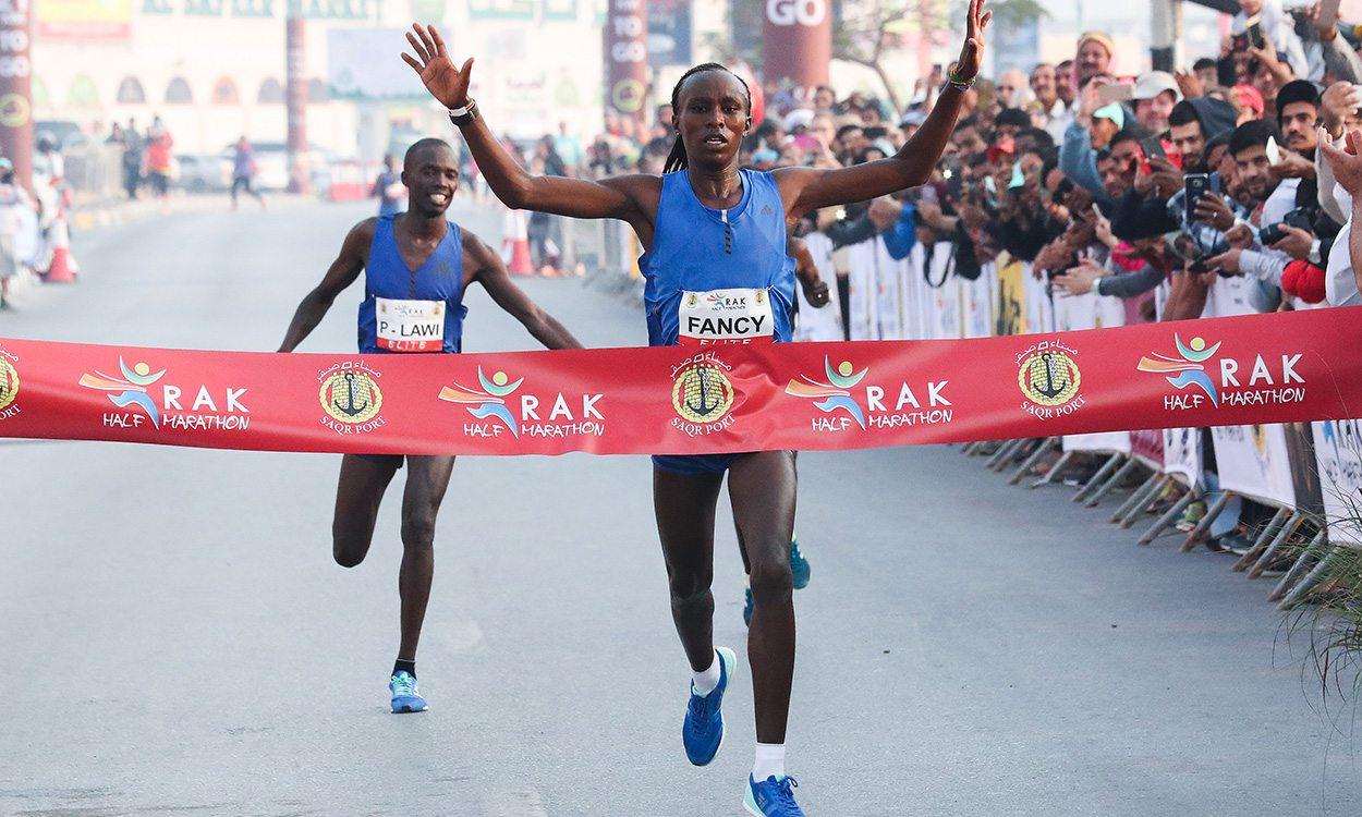 Fancy Chemutai and Bedan Karoki race to record-breaking RAK Half wins