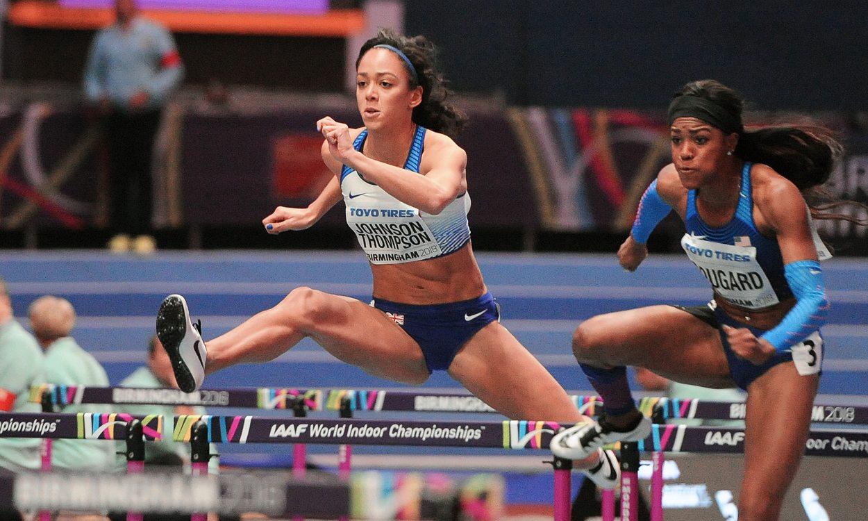 Katarina Johnson-Thompson enjoys solid start in Birmingham