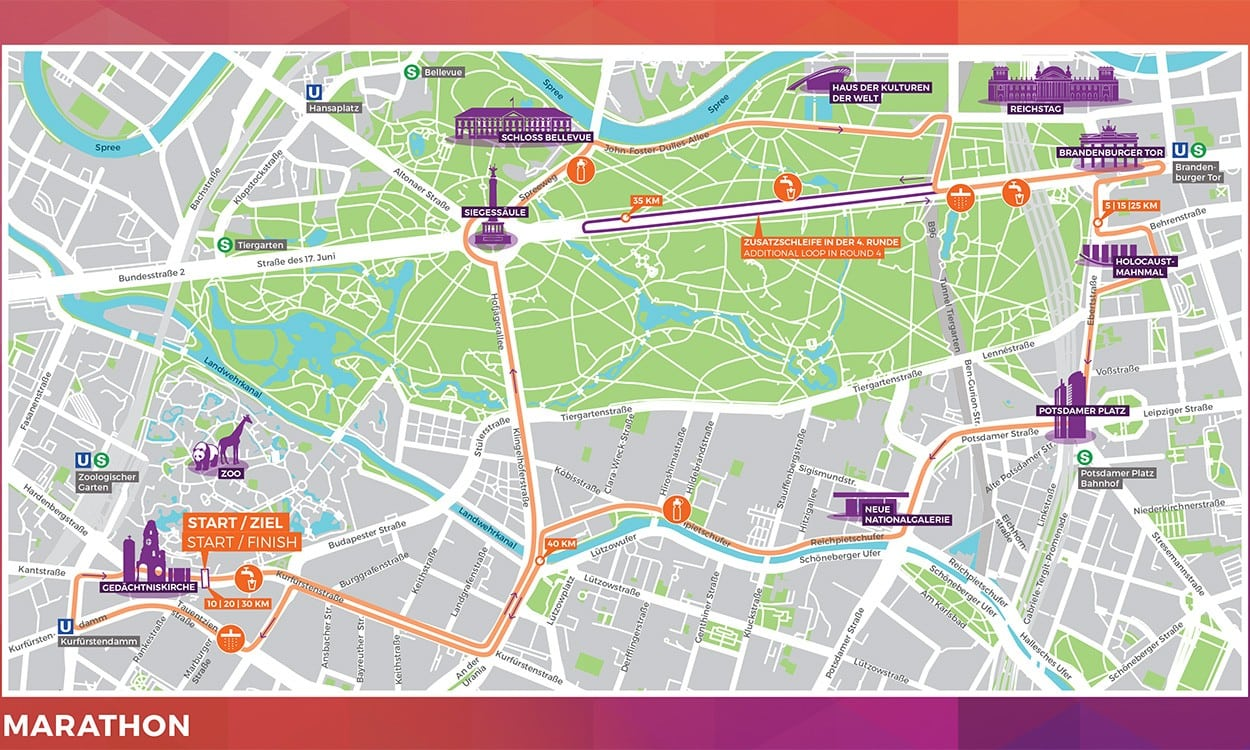 Marathon and race walk routes published for Berlin Euro Champs