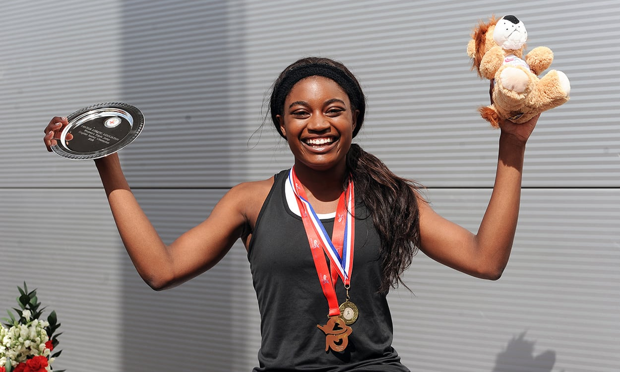 Naomi Ogbeta leaps to triple jump title in Manchester